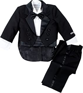 Spring Notion Baby Boys' Black Classic Tuxedo with Tail