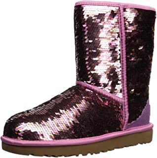 blue and pink uggs