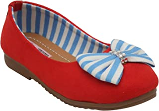 D'chica Suede and Stripes Ballerinas for Girls