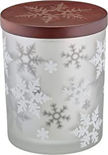 Lenox Alpine Snowflake Votive with Wood Lid, 2 Piece