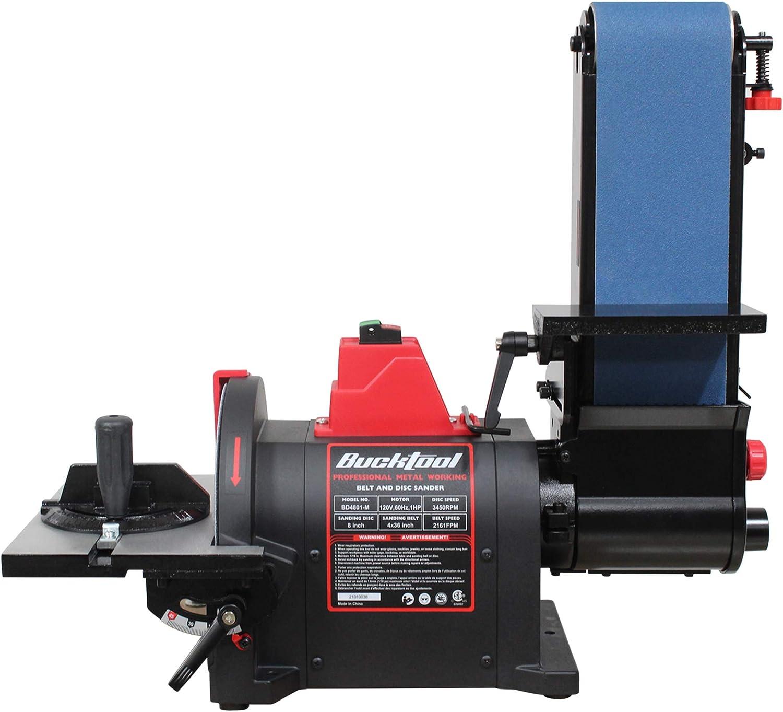 BUCKTOOL 1 year warranty Professional Bench Belt Store Sander for in. Metal x 36 4
