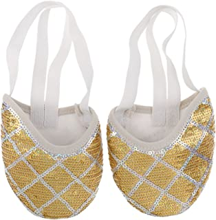 IPOTCH 1 Pair Women Girl Glitter Half Soles Ballet Dance Shoes Rhythmic Gymnastics