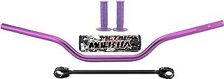 Motorcycle 7/8``22mm off-road Handlebar - Universal Handlebar Handlebar Crossbar With Pad Clamp for Yamaha YZ125 YZ250 YZF250F YZF450F WR125 (Purple)