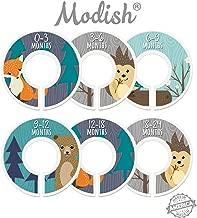 Modish Labels Baby Nursery Closet Dividers, Closet Organizers, Nursery Decor, Baby Boy, Woodland, Fox, Bear, Owl, Hedgehog