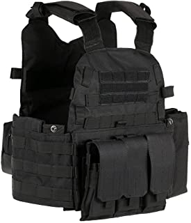 Lixada tactisch vest, met Molle-systeem, voor kamperen, wandelen, versterkt Oxford geweven textiel (600D)