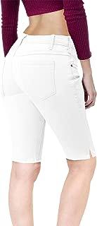 Hybrid & Company Women's 11.5 inch Inseam Stretchy Denim Bermuda Short
