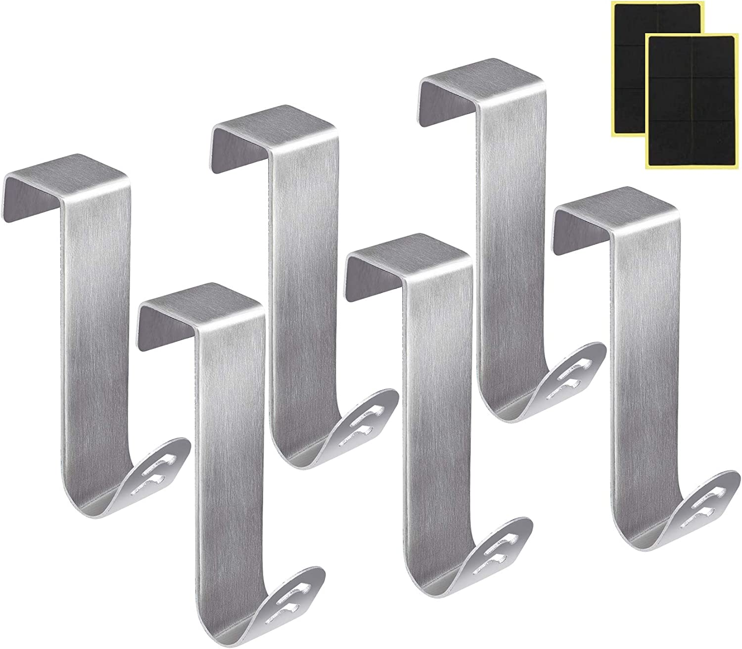 Lemonfilter 6 Pack Over The Door Hooks Stainless Doo 67% OFF Max 43% OFF of fixed price Steel