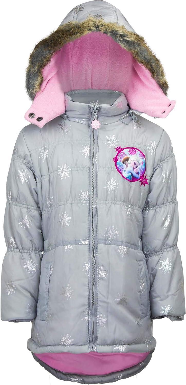 Frozen Die Eisk/önigin ELSA M/ädchen Winterjacke Mantel Parka Kapuze blau 98