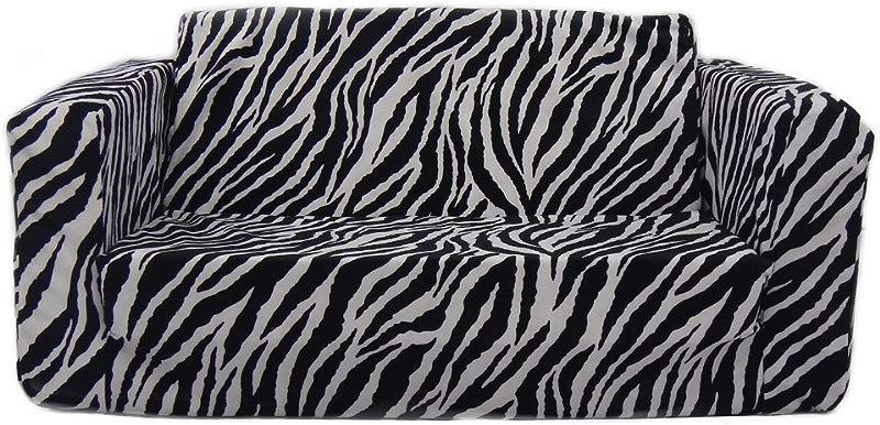 Fun Furnishings 55224 Toddler Flip Sofa Zebra