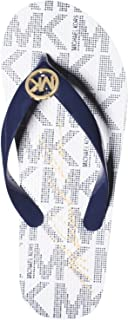 Michael Kors Womens Jet Set Flip Flops 9 M US Navy