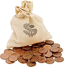 Lincoln Penny Bankers Bag Beginner Coin Set | Coins for Kids | Coloring Sheet and Quiz | Canvas Bag- American Coin Treasures
