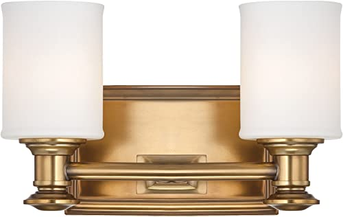 """2021 Minka Lavery Wall Light outlet online sale Fixtures Harbour Point 5172-249 online Glass Reversible 200w (7""""H x 11""""W) Vanity Light in Brass outlet sale"""