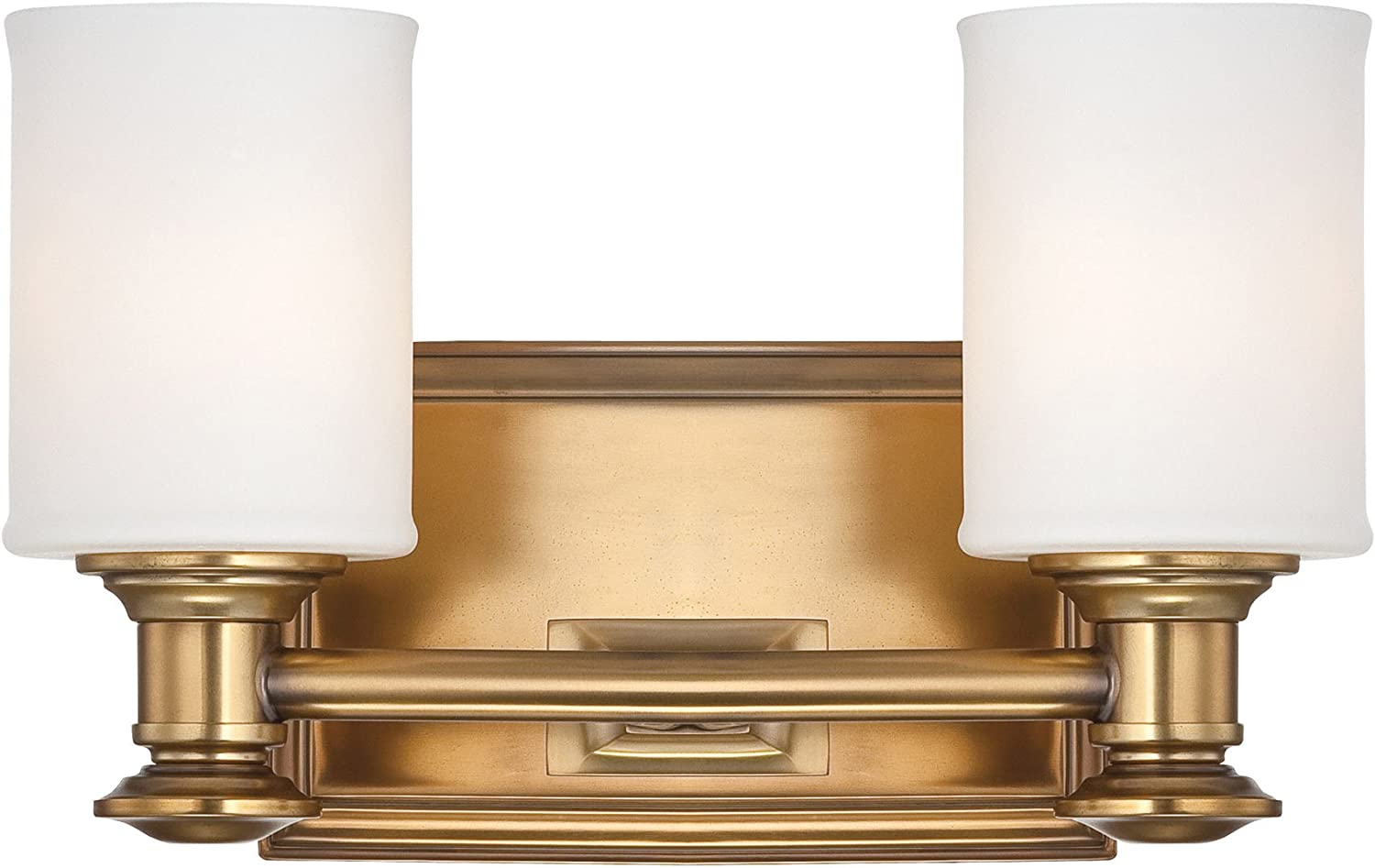 Minka Lavery Wall Light Fixtures Harbour Point 5172-249 Glass Reversible 200w (7 H x 11 W) Vanity Light in Brass