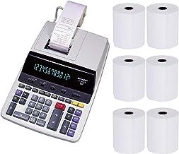 $108 Get Sharp EL2630PIII Heavy Duty 2-Color Printing Calculator with Clock and Calendar Bundle (7 Items)