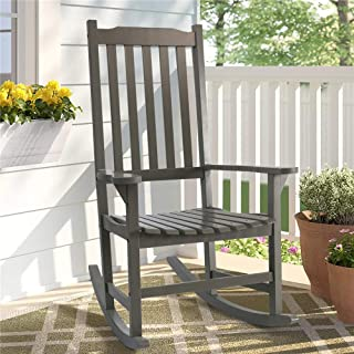EZbuyeveryday Rocking Chair, Patio Rocking Chairs for Plantation,Porch, Living Room,Indoor or Outdoor (Gray)