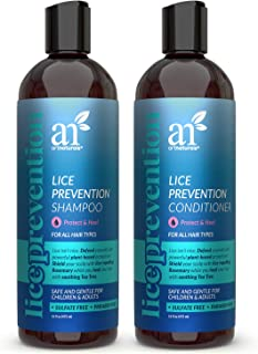 ArtNaturals Lice Prevention Shampoo and Conditioner (2 x 16 Fl Oz / 473ml) - with Rosemary & Tea Tree - Lice Shield for Ad...