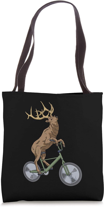 Bicycle Elk Gift Men Deer Gift Hunting Nature Elk Deer Tote Bag