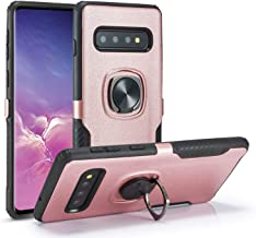 DEFBSC Samsung Galaxy S10 Plus Phone Case with Ring Kickstand,360 Degree Rotating Ring Kickstand Case Fit Magnetic Car Mount with Hybrid Dual Layer Armor for Samsung Galaxy S10 Plus,Rose Gold