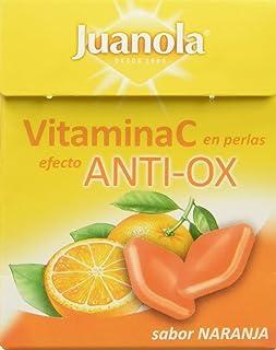 Juanola Perlas Balsámicas Vitamina C. Efecto Anti-Ox. sabor Naranja - 20 perlas
