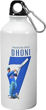 Morons MS Dhoni 7 Sipper Bottle | Cricket Bottles | IPL Merchandise | Printed Water Bottles - [600 ml, Multi-Color], Pack of