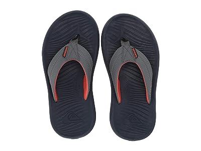 Quiksilver Kids Oasis (Toddler/Little Kid/Big Kid) (Grey/Grey/Orange) Boys Shoes