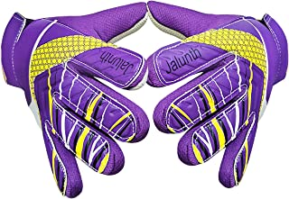 Goalkeeper Goalie Soccer Gloves - Kids & Youth Football Goal Keeper Gloves with Embossed Anti-Slip Latex Palm and Soft PU Hand Back