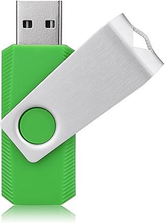 RAOYI 64GB USB Flash Drive USB 2.0 Memory Stick Swivel Design U Disk Green 64G Pen Thumb Drive