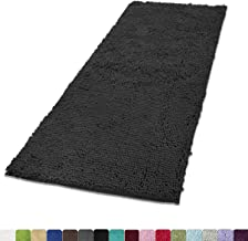 MAYSHINE Absorbent Microfiber Chenille Door mat Bathroom Rugs Runner for Front Inside Floor Doormats, Quick Drying, Washable-31x59 inch Dark Gray