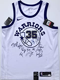 6547aeded5c 2018-19 Golden State Warriors Team Autographed Signed Nike Jersey Stephen  Curry Kd Klay Memorabilia