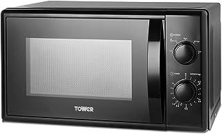 Tower T24034BLK Micro-ondes 5 niveaux de puissance avec minuterie 35 minutes Capacité 20 l 700 W Noir