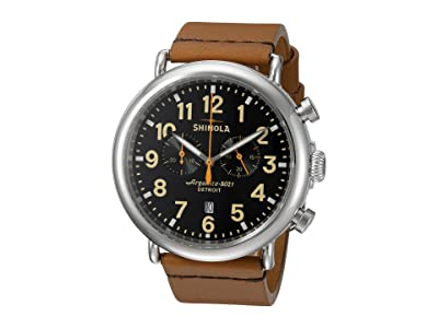 Shinola Detroit The Runwell Chrono 47mm 10000044 (Black/Tan) Watches