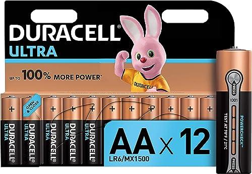 Duracell Ultra, lot de 12 piles alcalines Type AA 1,5 Volts LR6 MX1500