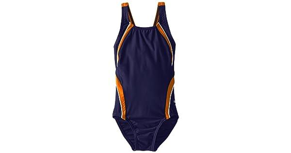 Speedo Big Girls Taper Splice Pulse Back Swimsuit Speedo Children/'s Apparel 8191645