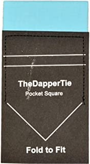 TheDapperTie - Men's Extra Thick Cotton Flat Pre Folded Pocket Square on Card
