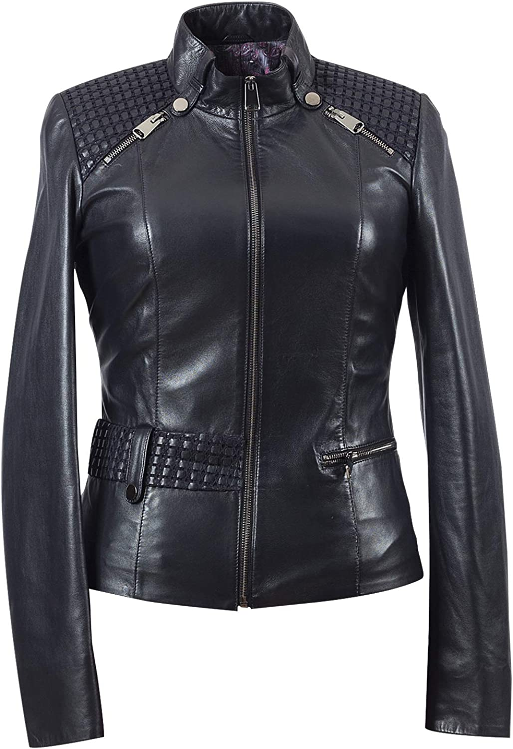 Alizya Leather Jacket for Women Regular Plus Size  Handmade