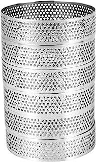 Nrpfell Cirkulär porös tårtring i rostfritt stål, bakform för tårtor, mousse efterrätter bakverkspaj, kakring med hål, 6 s...