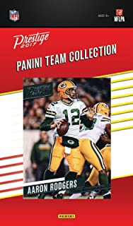 Green Bay Packers 2017 Prestige NFL Factory Factory Sealed Team Set with Aaron Rodgers, Jordy Nelson, Rookie Cards plus