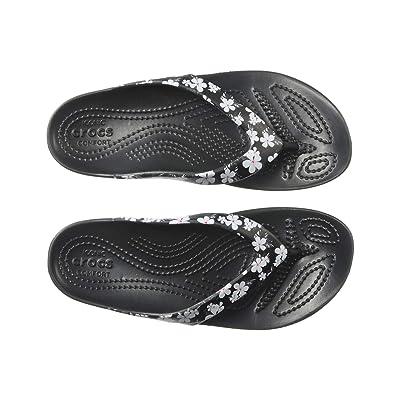 Crocs Kadee II Seasonal Flip (Tropical Floral/Black) Women