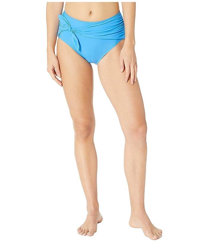 Kate Spade New York Grove Beach Tie High-Waisted Bikini Bottoms (Riviera Blue) Women