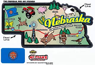 Flagline Nebraska - State Map Outline Vinyl Sticker