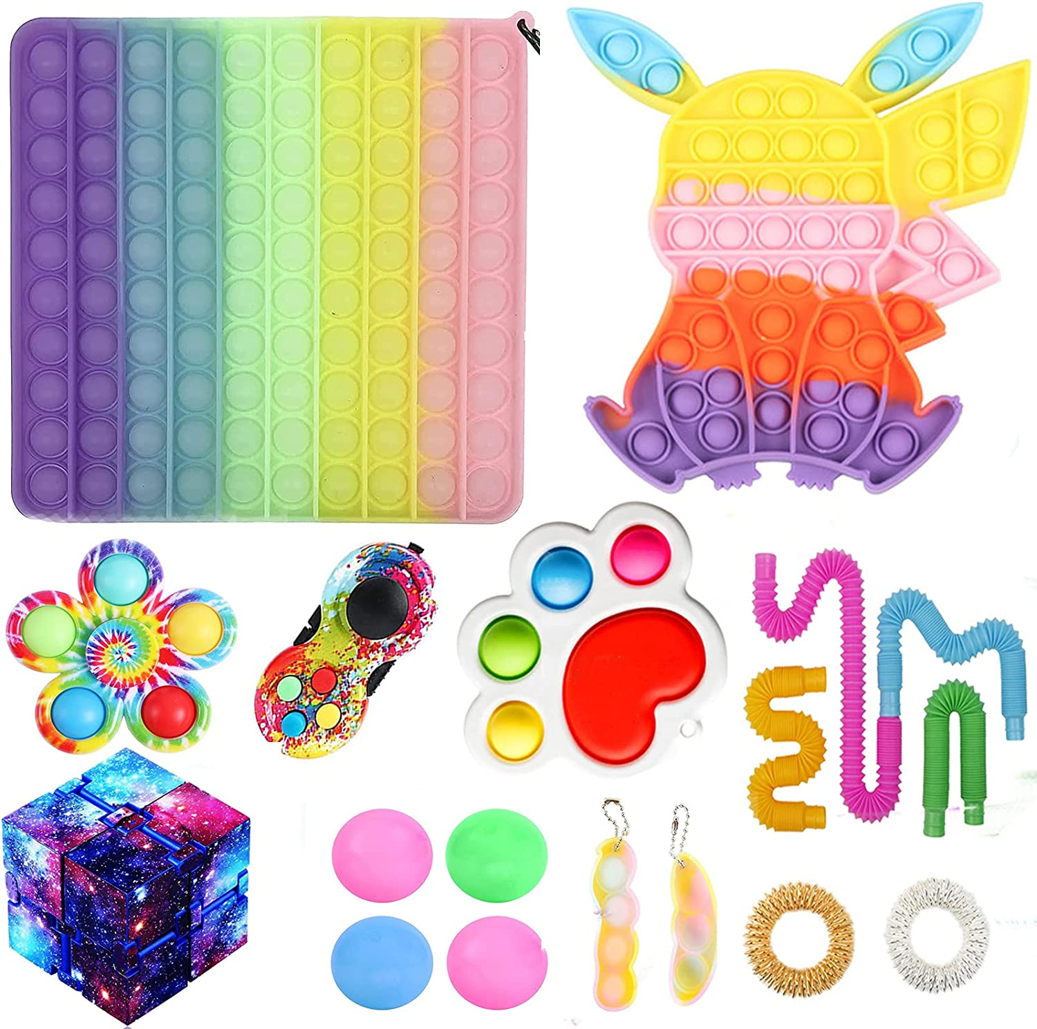 14 15 24 30 Pieces 5 popular Toys Kit Floral Toy Push St Square sold out Bubble