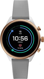 Fossil Women's Sport Metal and Silicone Touchscreen Smartwatch with Heart Rate, GPS, NFC, and Smartphone Notifications