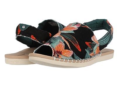 Reef Escape Sling Prints (Black Hibiscus) Women
