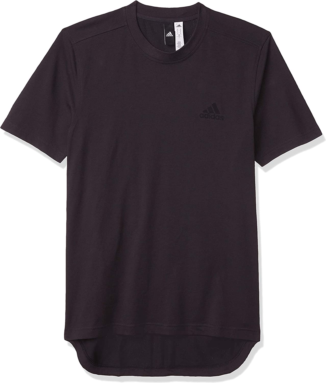 adidas Men's 3 Stripe Shorts Sleeve Jersey