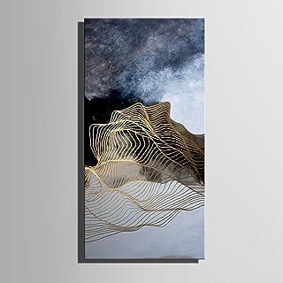 RUNDESHEBEI Y&M Ausgestreckte Leinwand Kunst Abstrakte Linie Landschaft Dekoration Malerei, rahmenlose Malerei, 30  60  1 B072MF8CXB  Niedrige Kosten