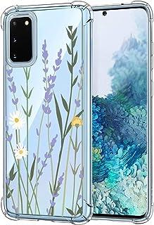 Oihxse beschermhoes voor Samsung Galaxy A50, transparant, zacht, TPU, siliconen, schokbestendig, krasbestendig, bloemenmot...