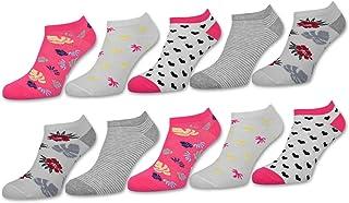 Calcetines para mujer (10 pares, varios colores) Motivo Ringel algodón 36815