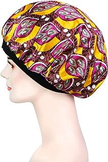 ASHILISIA Soft Satin Sleep Cap - Night Bonnet with Wide Elastic Band for Women