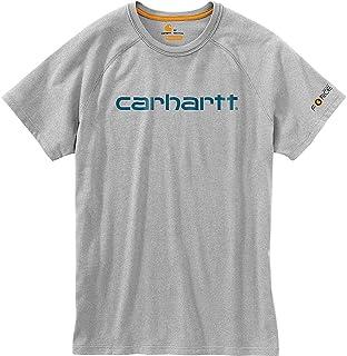 カーハート トップス シャツ Carhartt Men's Force Cotton Delmont Grap Heather Gr 1pt [並行輸入品]