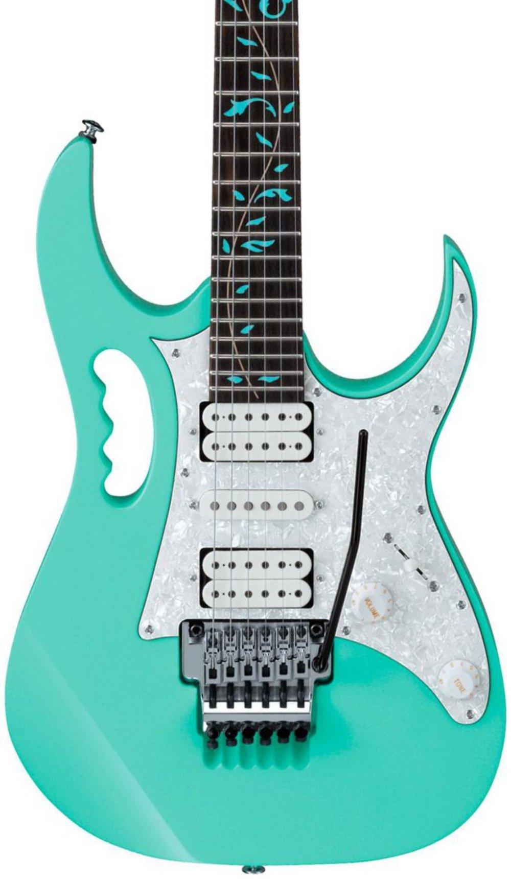 Cheap Ibanez JEM/UV Steve Vai Signature Electric Guitar Sea Foam Green 190839002389 Black Friday & Cyber Monday 2019